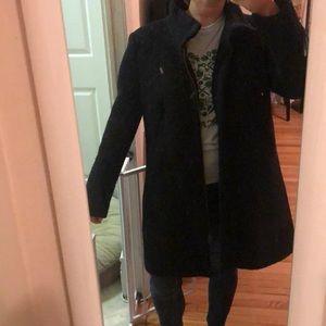 Loft Pea Trench Coat Black